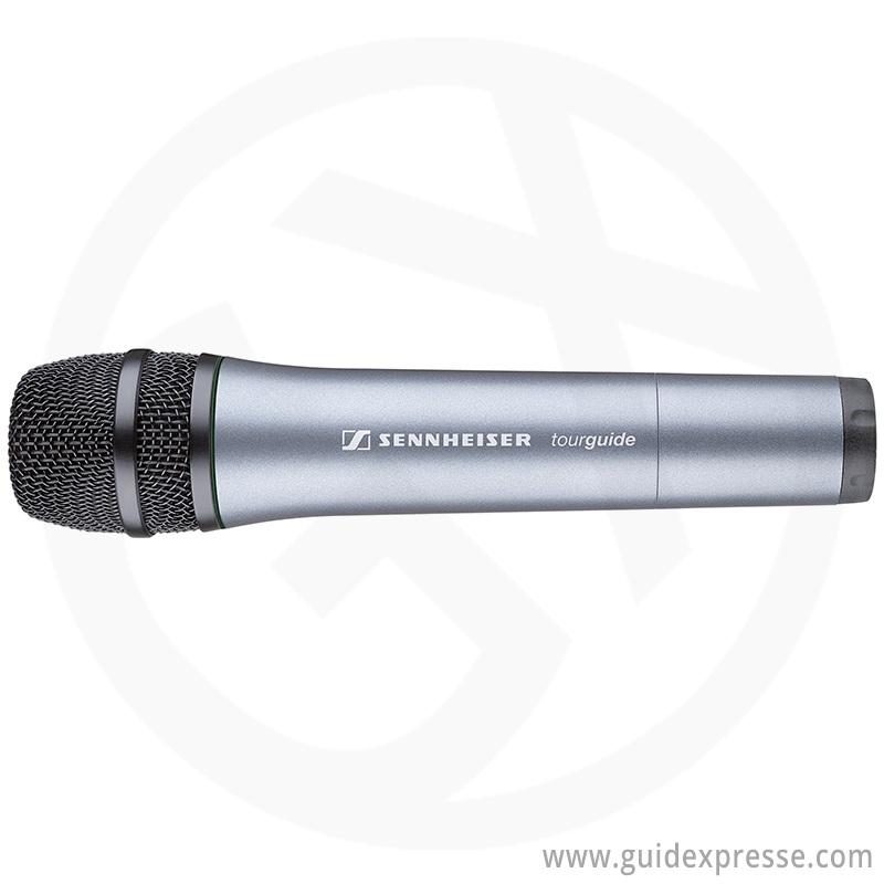 Sennheiser-SKM2020D-draadloze-tourguide-handmicrofoon-vooraanzicht
