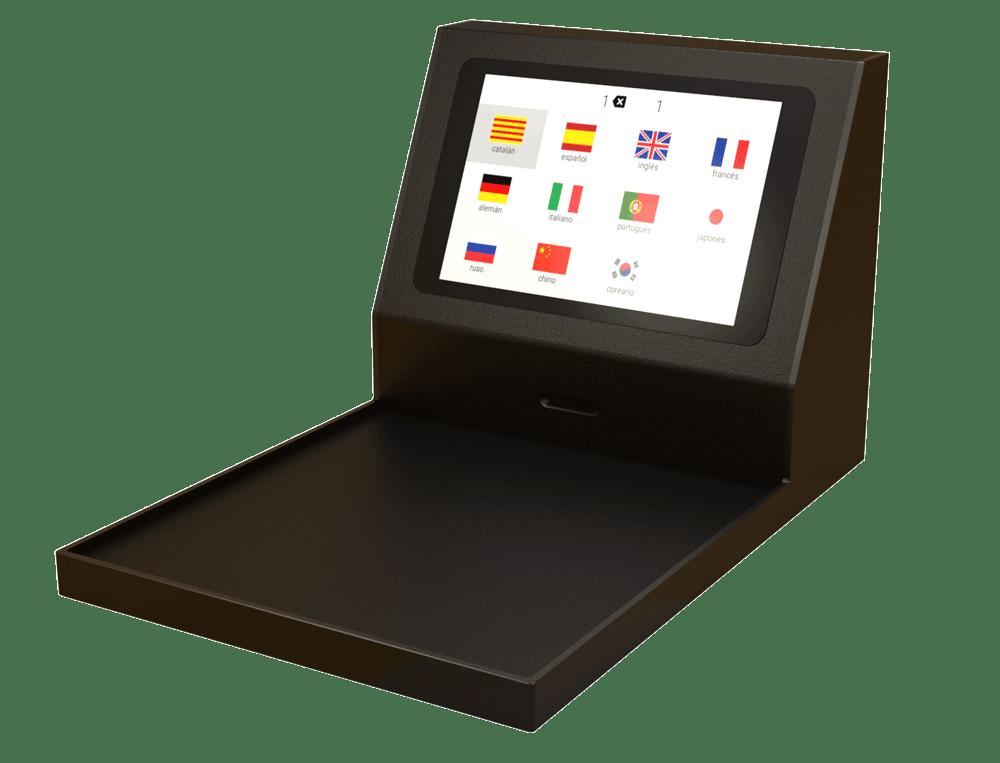 D-BOX met taalselectiescherm
